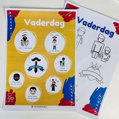 Knutseltips voor vaderdag - Onder, midden en bovenbouw - MeesterSander.nl Playing Cards, Books, Superheroes, Libros, Playing Card Games, Book, Book Illustrations, Game Cards, Playing Card