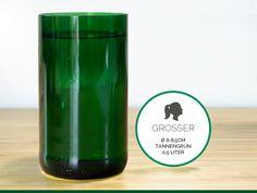GROSSER / Ø 8-8,5CM / TANNENGRÜN (Glas / Vase) von GLÄSERNE TRANSPARENZ auf DaWanda.com