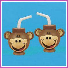 Cute Monkey cups take away gift