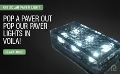 """4""""x8"""" Solar LED Paver Light by Paver Light Depot. $27.68. Our solar-powered LED Paver Lights is one of the most innovative new lighting products in the architectural industry. Our Paver Lights have been recognized as """"Green"""" and """"eco-friendly"""", making them environmentally safe in all applications.   Our Solar LED Paver Lights come in four different sizes (4x4, 4x8, 6x6, 6x9), constructed with industrial grade glass that can withstand most all vehicle traffic. Each paver h..."""