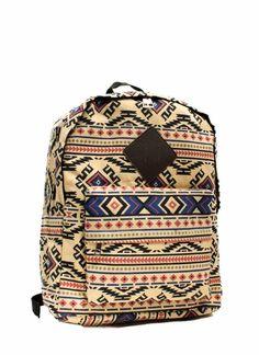 Tribal Travel Print Backpack