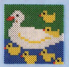 Ducks hama perler pattern