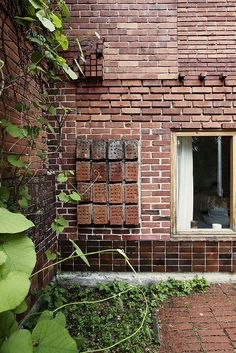 Muuratsalo Experimental House by Alvar Aalto.  Brick panels 2, via Flickr.