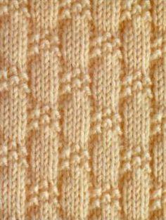 knit and purl stitch patterns Baby Knitting Patterns, Knitting Stiches, Knitting Charts, Loom Knitting, Knitting Designs, Stitch Patterns, Crochet Patterns, Purl Stitch, Tear