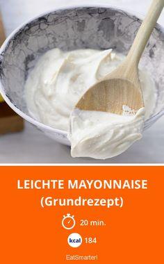 Leichte Mayonnaise - (Grundrezept) - smarter - Kalorien: 184 Kcal - Zeit: 20 Min. | eatsmarter.de