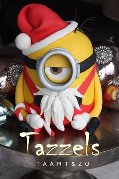 Santa Minion Christmas Cake - For all your cake decorating supplies, please visit craftcompany.co.uk