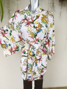 Short Kimono by Chantilly sleepwear made in Ecuador, beautiful!
