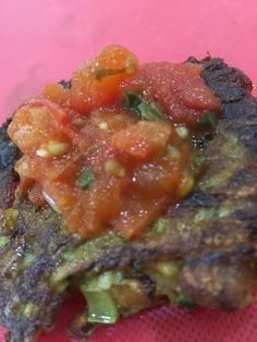 Vegetarian Fritters with Tomato Sauce. Check out our bonus recipe! Fritters, Tomato Sauce, Ratatouille, Vegetarian, Nutrition, Meals, Healthy, Ethnic Recipes, Check