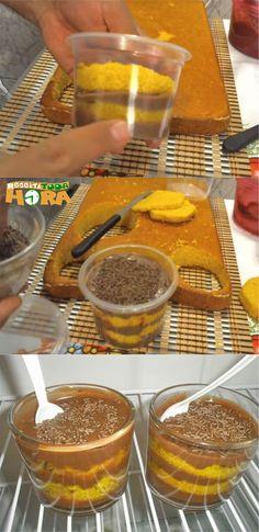Carrot Cake with Gourmet Brigadeiro in Potinho Cake Gourmet Recipes, Diet Recipes, Cake Recipes, Food Cakes, Cupcakes, Chocolate, Carrot Cake, Carne, Tiramisu
