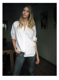 White Shirt & Jeans