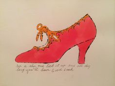 Warhol shoe @ MoMA
