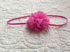 Ballet Flower Headband with Skinny Elastic by LilacAndMarigold on Etsy https://www.etsy.com/listing/487614753/ballet-flower-headband-with-skinny