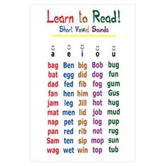 short a words Phonics Reading, Teaching Phonics, Phonics Activities, Teaching Reading, Learning, Teaching Resources, Phonics Rules, Phonics Words, Cvc Words