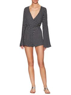 Robyn Print Wrapped Wide Cuff Romper  from The Ultimate Summer Edit on Gilt
