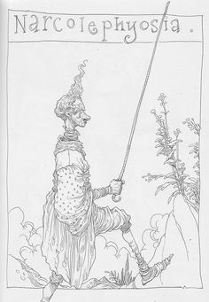 Chris Riddell - sketchbook Illustration Sketches, Drawing Sketches, Drawings, Sketching, Chris Riddell, Quentin Blake, Painting & Drawing, Line Art, Art Reference