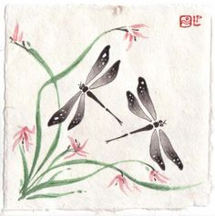 chinese dragonfly painting