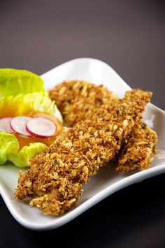 Baked Chicken Tenders with Infatuated with and Sour Sauce