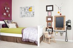 A Shared Girls' Bedroom Featuring Amethyst and Plum
