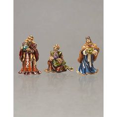 3 Wise Men Plastic Doll Heads Set