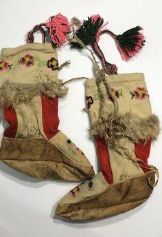 Antique Native Mukluks Beaded Damaged  | eBay Nativity, Native American, Antiques, Vintage, Ebay, Fashion, Moda, Antiquities, La Mode
