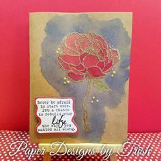 #handmadecard #unitystamps #rose #embossing #waterpainting