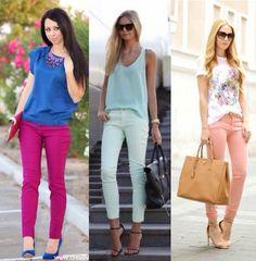 Mujer al natural: Cómo combinar los jeans de colores