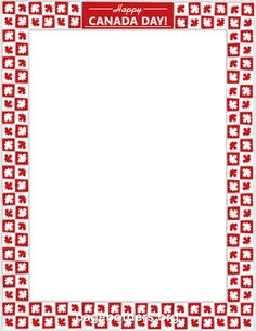 Printable Canada Day border. Use the border in Microsoft Word or other programs for creating flyers, invitations, and other printables. Free GIF, JPG, PDF, and PNG downloads at http://pageborders.org/download/canada-day-border/