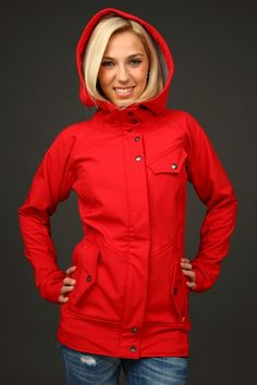 ATOM RAT / Michigan Red - I don't know for sure if this is a waterproof jacket, but if so I want!