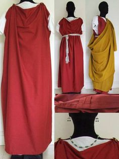 Ladies Madder Red Linen Stolla