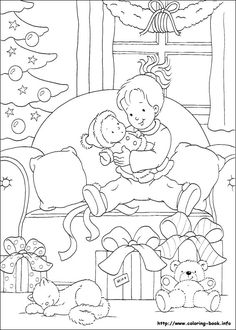 Christmas coloring pages Christmas. Kids printables coloring pages. Colouring Pics, Coloring Book Pages, Printable Coloring Pages, Free Coloring, Coloring Pages For Kids, Christmas Colors, Kids Christmas, Christmas Crafts, Xmas