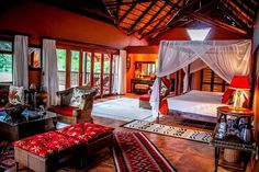 Suite Imperial at Thula Thula Game Reserve is the ultimate spoil for the love of your life #romantic #frenchcuisine #gamedrives 2 hours North of Durban, Kwa Zulu Natal, South Africa