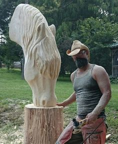Chainsaw Carving by Paul - Home Chainsaw Wood Carving, Wood Carving Art, Yard Sculptures, Tree Sculpture, Metal Sculptures, Abstract Sculpture, Bronze Sculpture, Wood Carving Patterns, Carving Designs