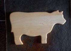 Cow Cutting Board  Maple by StonePointWoodwork on Etsy