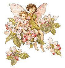 25 WALLIES APPLE BLOSSOM FLOWER FAIRIES WALLPAPER CUTOUTS #12955
