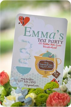 Mad Tea Party Invitations by Sweet Junes on Etsy - $30.00
