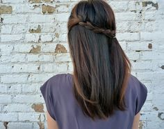 25 Gorgeous Half-Up, Half-Down Hairstyles.  Half French Braid    This super pretty braided half up style is super easy to create.  Learn how on Parlor.