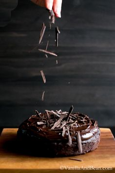 Chocoalte Decadence: an easy yet elegant cake to put together. Rich yet slightly sweet with a pinch of salt for good measure. | VanillaAndBean.com #GlutenFree #Valentines #Recipe