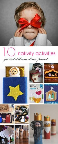 10 VERY fun Christmas Nativity Activities for Kids, featured at Lessons Learnt Journal.