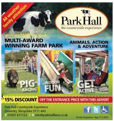 15% off a day out at Park Hall Farm, #Oswestry #Shropshire - what are you waiting for?