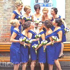 Royal blue vintage bridesmaid dresses