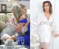Young and Restless: December 2015 Abby's White Lace Trim Robe