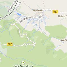 Na mapie google możemy zobaczyć dokładne położenie Parku Narodowego Gór Stołowych oraz sprawdzić jaką drogę przebylibyśmy z naszej szkoły w Lewinie do Parku.