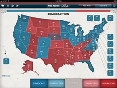 """Predict the outcome of the election on Fox News' iPad app """"You Decide 2012 Map"""""""