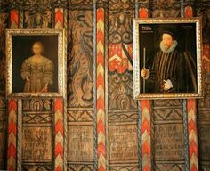 Detail of Century painted screen at Berkeley Castle Castle Painting, Scenic Wallpaper, English Castles, Castle Wall, Antique Interior, Faux Painting, Tudor History, Medieval Art, Painted Walls