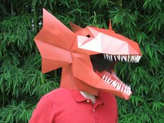 In line with theGeometric Paper Masks and the3D Paper Heads, here is a new series of DIY paper masks to print and assemble by yourself, offering dinosaur he