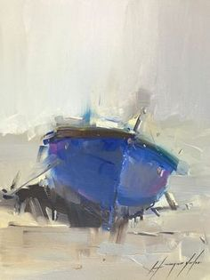 Rowboat, Original oil painting, Handmade artwork, One of a kind by Vahe Yeremyan - view in room Boat Painting, Oil Painting On Canvas, Painting Art, Paintings For Sale, Original Paintings, Boat Art, Art Society, Encaustic Art, Abstract Oil