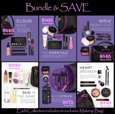 Younique's 2015 Fall Collections: the perfect way to get many of our new products at a great price! I'm definitely getting the Cloud 9 collection! All the new products in one place AND $58 off!  US prices.. But still a great deal ❤️