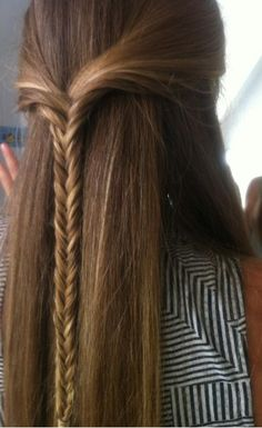 This is a cute idea for a fishtail braid
