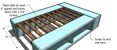 An AMAZING tutorial on how to build a full storage bed yourself. All her tutorials are so awesome