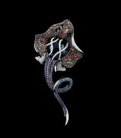 Segredos do oceano: Coleção  750 ouro branco, ct topázio London azul 9,92, diamantes, diamantes cognac, safiras azuis, safiras laranja.